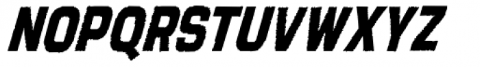 Tapeworm Bold Oblique Font LOWERCASE