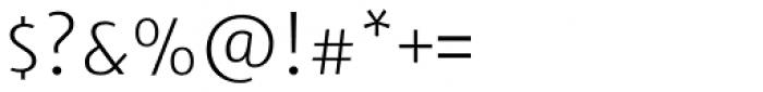 Tara Thin Font OTHER CHARS