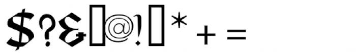 Taranis Font OTHER CHARS
