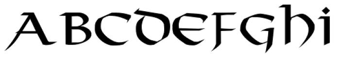 Taranis Font UPPERCASE