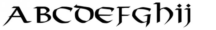 Taranis Font LOWERCASE