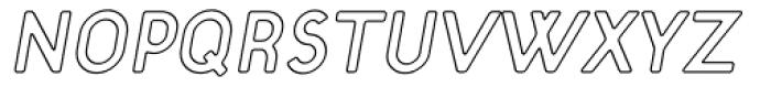 Target Open Italic Font UPPERCASE