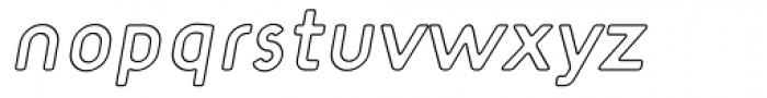 Target Open Italic Font LOWERCASE