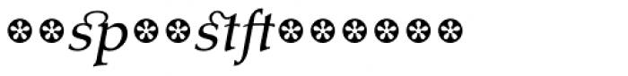 Tarocco Extras OT Italic Font LOWERCASE