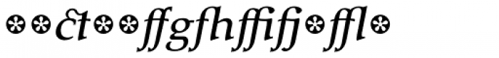 Tarocco Extras OT Medium Italic Font LOWERCASE