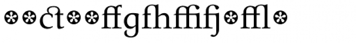 Tarocco Extras OT Roman Font LOWERCASE