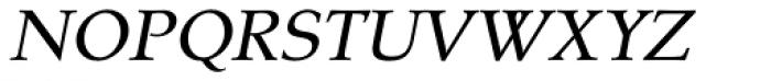 Tarocco OT Italic Font UPPERCASE