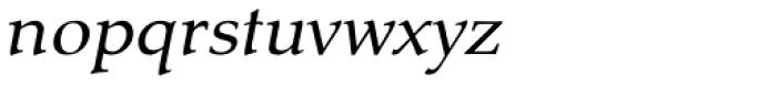 Tarocco OT Italic Font LOWERCASE