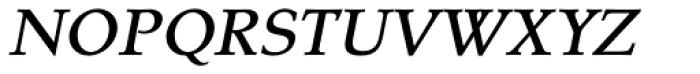Tarocco OT Medium Italic Font UPPERCASE