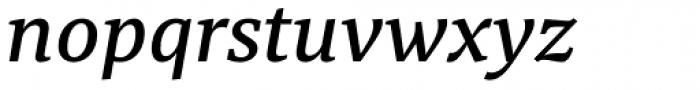 Tarsus Medium Italic Font LOWERCASE
