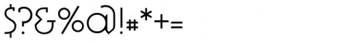 Tasci Serif UltraLight Font OTHER CHARS