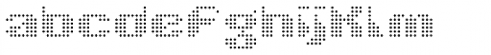 Taser Round Grey Font LOWERCASE