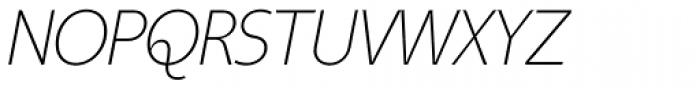 Taste ExtraLight Italic Font UPPERCASE