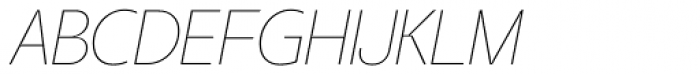 Taste Thin Italic Font UPPERCASE