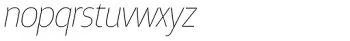 Taste Thin Italic Font LOWERCASE