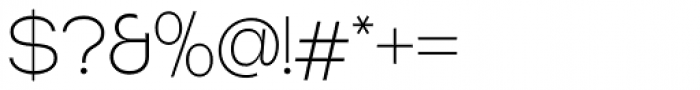 Tatline Neue Thin Font OTHER CHARS