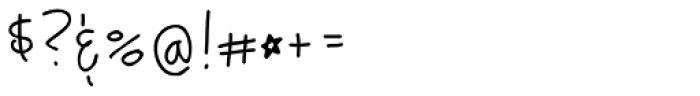 Tattletale PW Font OTHER CHARS