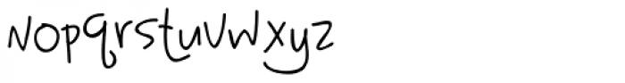 Tattletale PW Font LOWERCASE