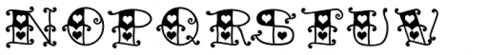 Tattoo Girl Heart Font LOWERCASE