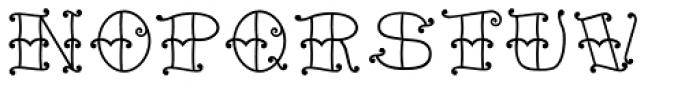 Tattoo Girl Outline Font UPPERCASE
