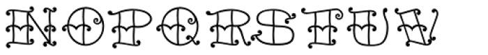 Tattoo Girl Outline Font LOWERCASE