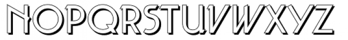Taut Shadow Font LOWERCASE