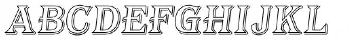 Tavern Alt Out SL Italic Font UPPERCASE
