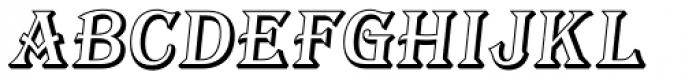Tavern Open Italic Font UPPERCASE