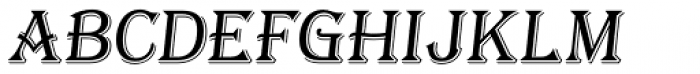 Tavern S Light Italic Font LOWERCASE
