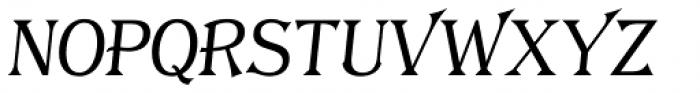 Tavern S Plain Light Italic Font UPPERCASE