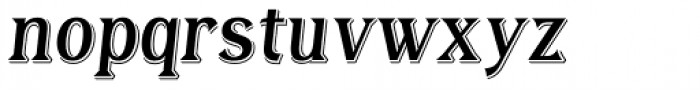 Tavern X Italic Font LOWERCASE