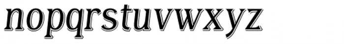 Tavern X Light Italic Font LOWERCASE