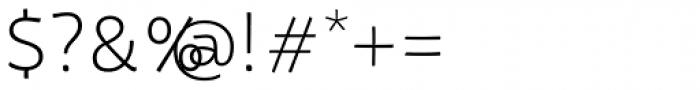 Tavolga Thin Font OTHER CHARS