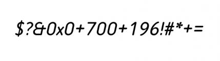 Tar Basic Italic Font OTHER CHARS