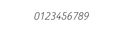 Tar Basic Thin Italic Font OTHER CHARS