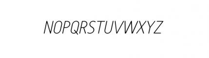 Tar Basic Thin Italic Font UPPERCASE