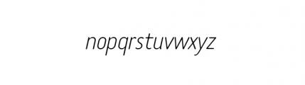 Tar Basic Thin Italic Font LOWERCASE