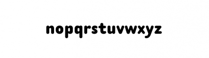 Tar Complete Bold Font LOWERCASE