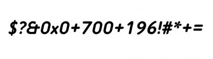Tar Complete Medium Italic Font OTHER CHARS