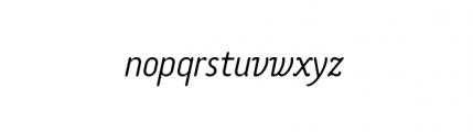 Tar Complete OldStyle LightItalic Font LOWERCASE