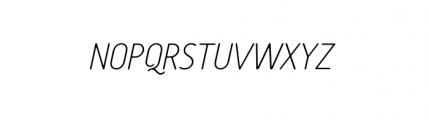 Tar Complete OldStyle ThinItalic Font UPPERCASE
