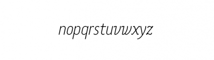 Tar Complete OldStyle ThinItalic Font LOWERCASE