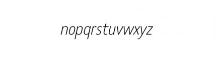 Tar Complete Thin Italic Font LOWERCASE