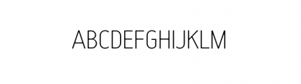 Tar Complete Thin Font UPPERCASE