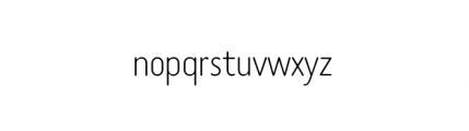 Tar Complete Thin Font LOWERCASE