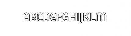 Target Alternate Open Font UPPERCASE