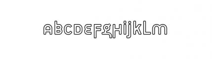 Target Alternate Open Font LOWERCASE