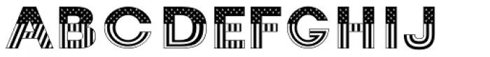 TB Stars And Stripes Bold Font UPPERCASE