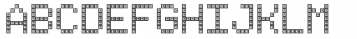 TBMatrix Domino Font UPPERCASE