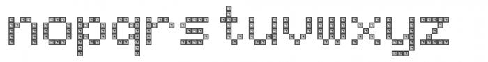 TBMatrix Domino Font LOWERCASE